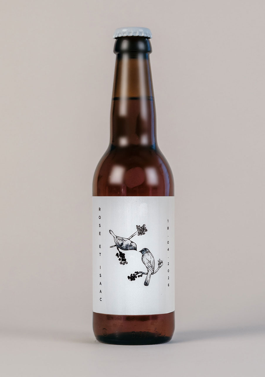 biere mariage personnalisé Birds