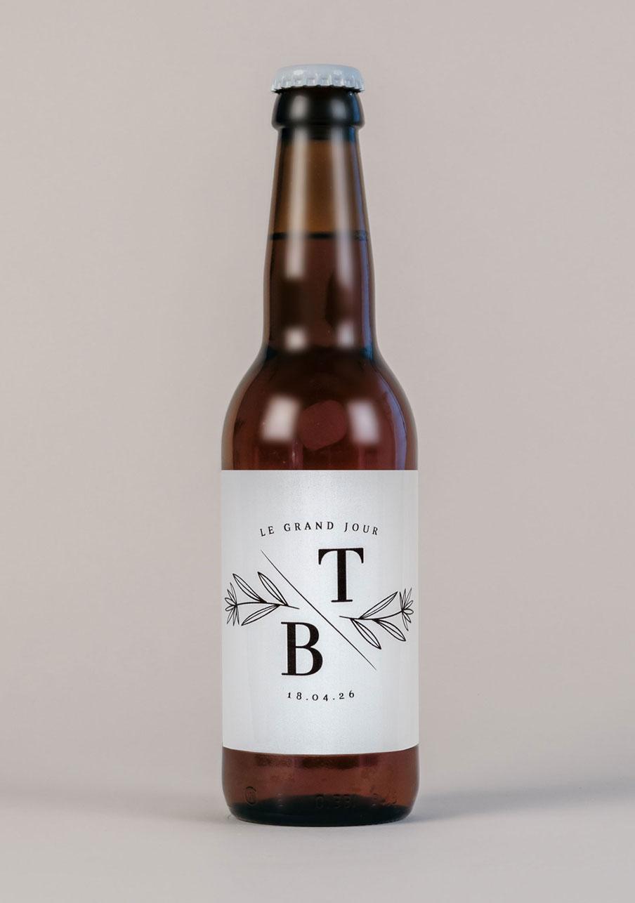 biere mariage personnalisé Blason