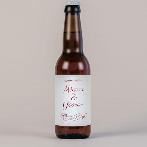 Bière de mariage burgundy à personnaliser