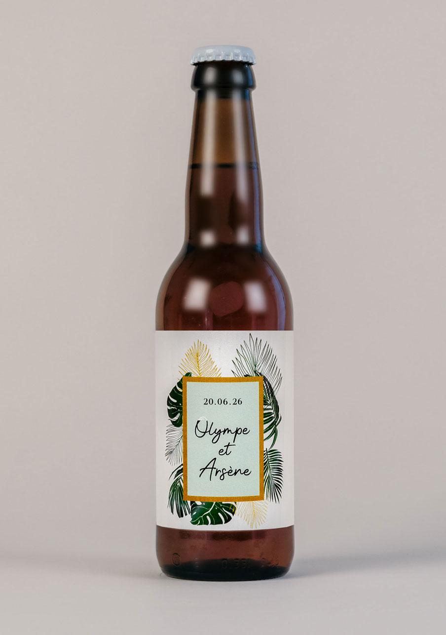 biere mariage personnalisé Cadre tropical