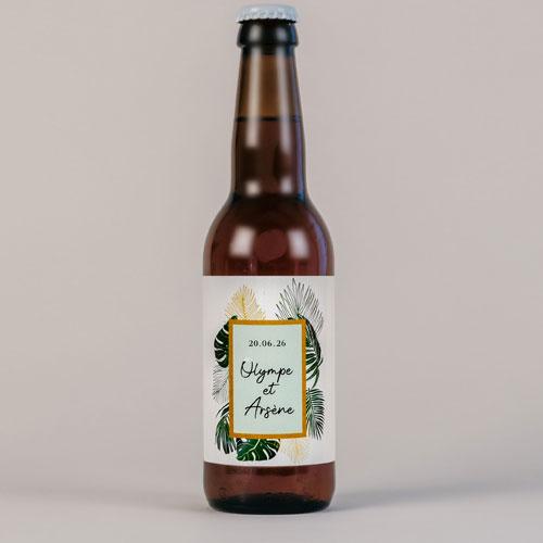 Bière de mariage cadre-tropical à personnaliser