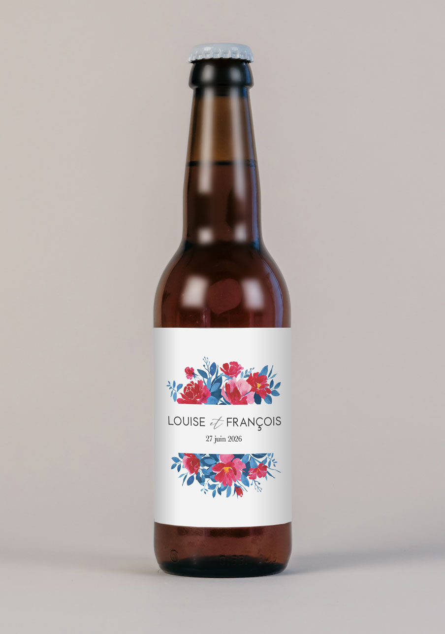 biere mariage personnalisé Charlotte