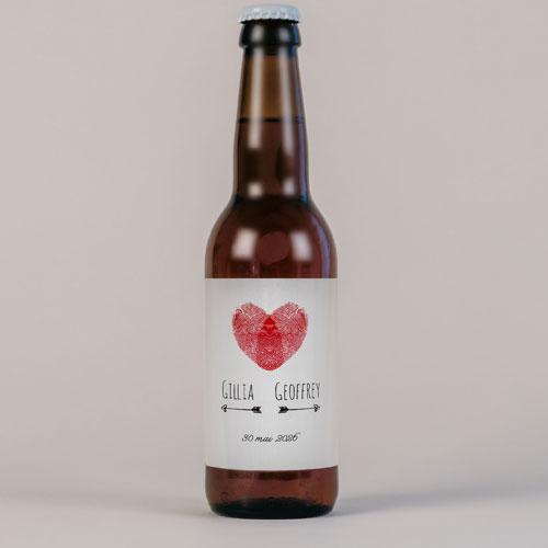 Bière de mariage coeur à personnaliser