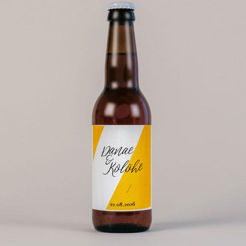 Bière de mariage color-block à personnaliser