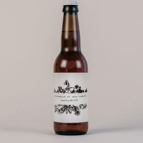 Bière de mariage composition-florale à personnaliser