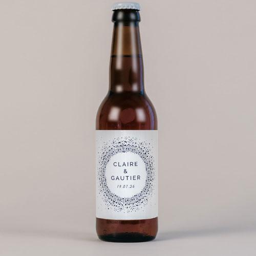 Bière de mariage constellation à personnaliser