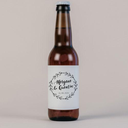 Bière de mariage couronne à personnaliser