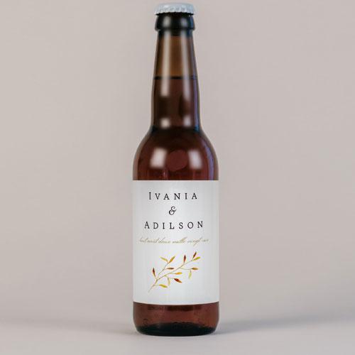 Bière de mariage feuilles-dorees à personnaliser