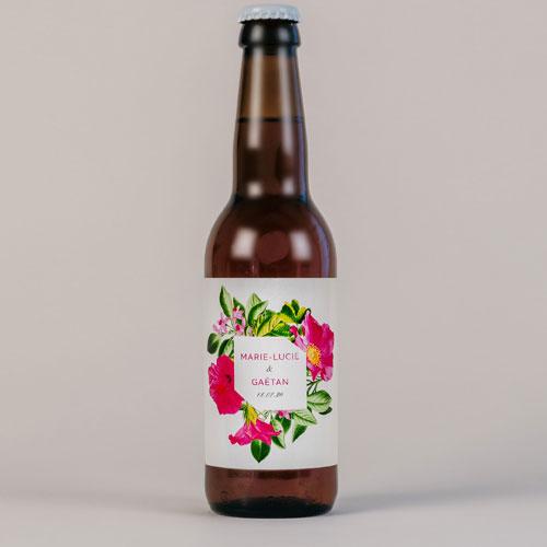 Bière de mariage floral à personnaliser