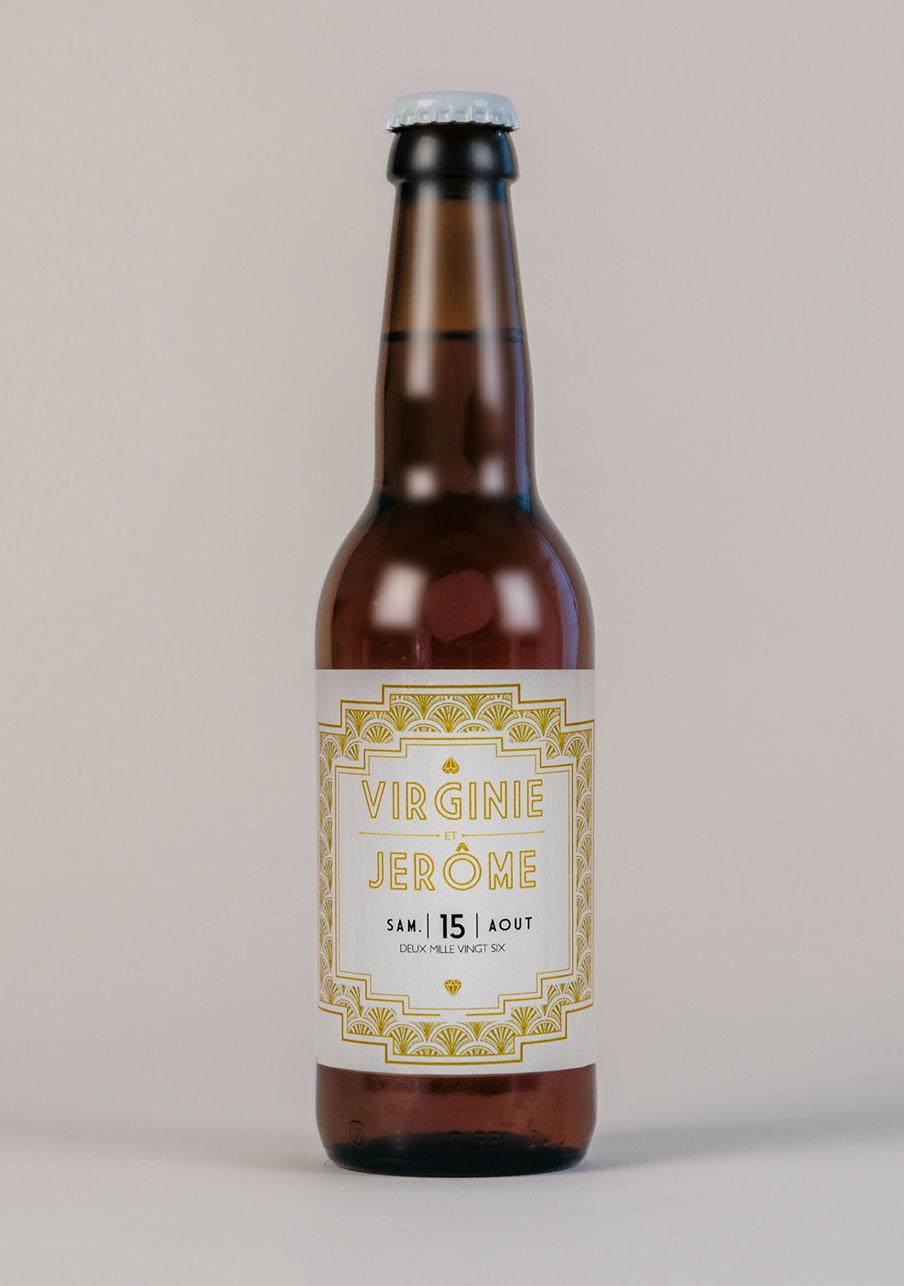 biere mariage personnalisé Gatsby