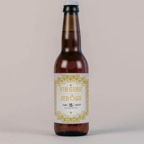 Bière de mariage gatsby à personnaliser
