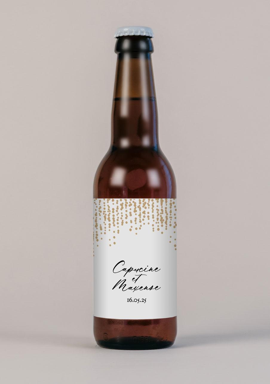 biere mariage personnalisé Glitter