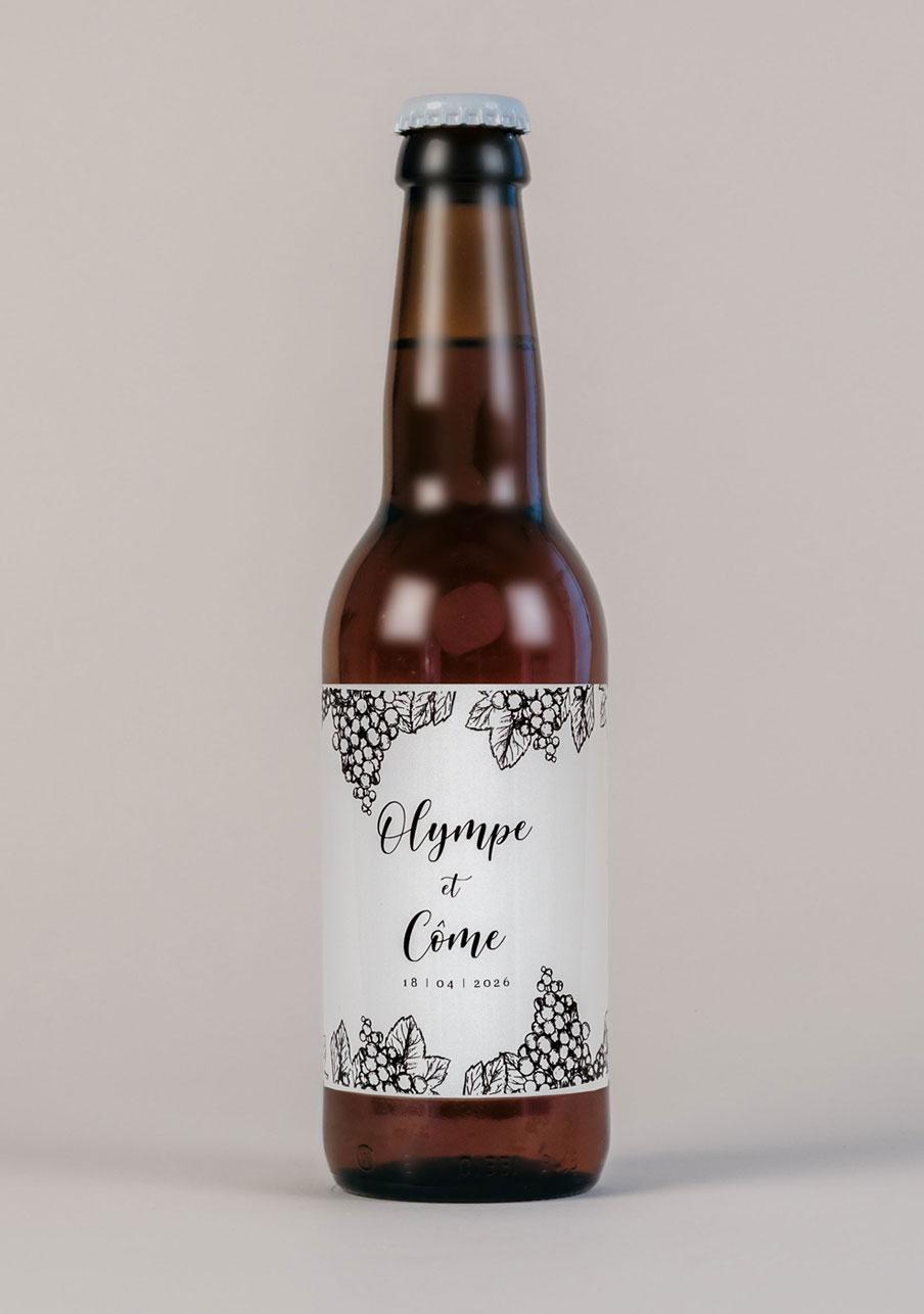 biere mariage personnalisé Grappes