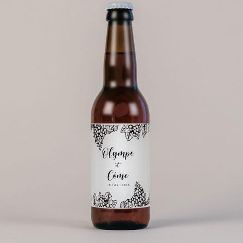 Bière de mariage grappes à personnaliser