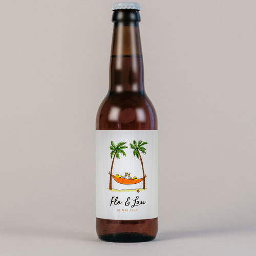 Bière de mariage hamac à personnaliser