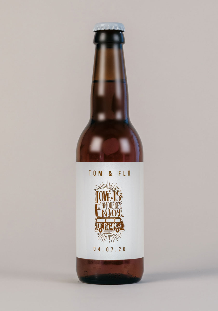biere mariage personnalisé Journey