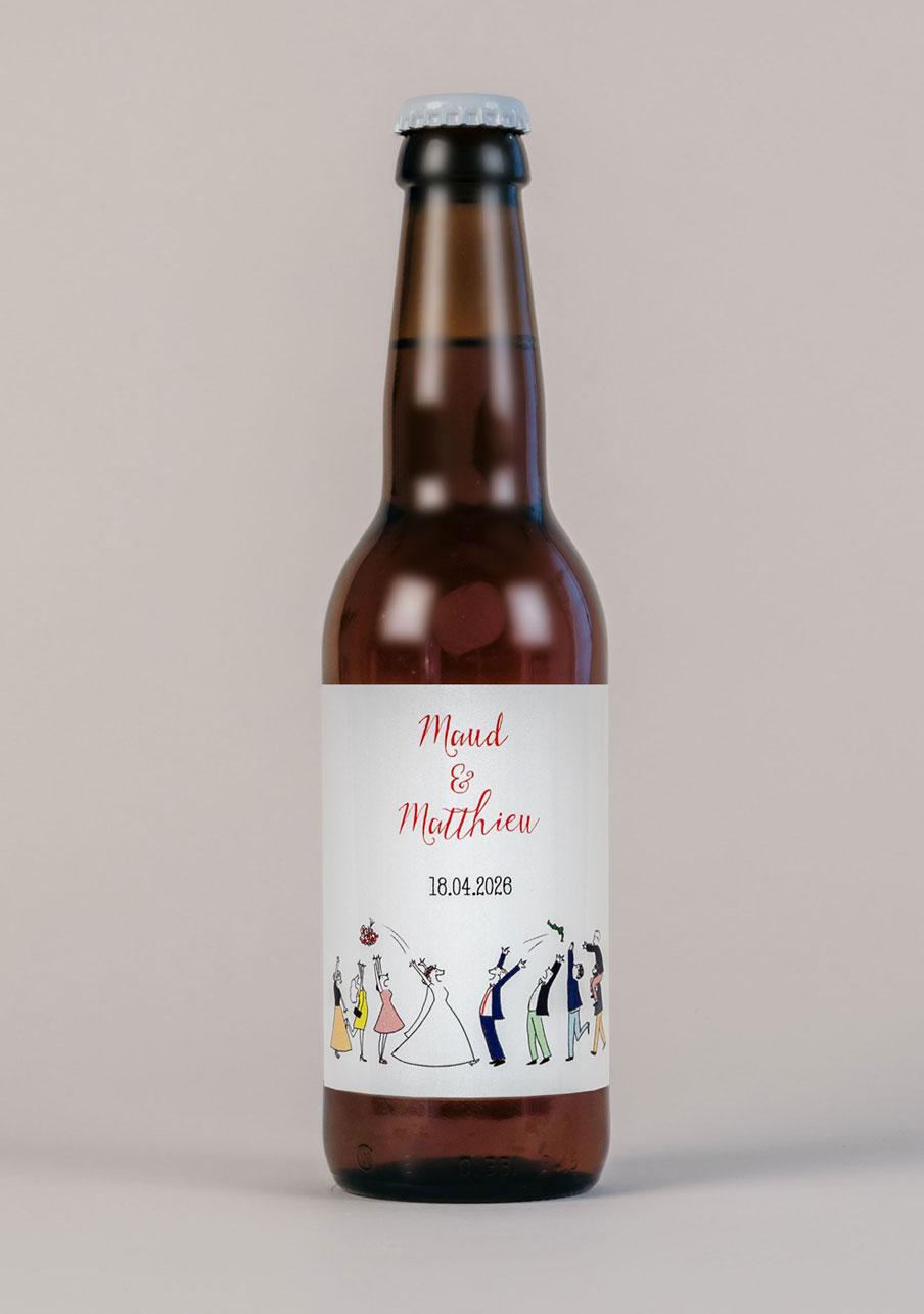 biere mariage personnalisé Lancer de bouquet