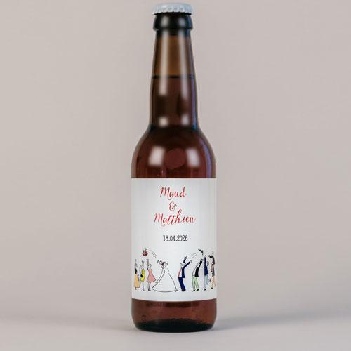 Bière de mariage lancer-de-bouquet à personnaliser