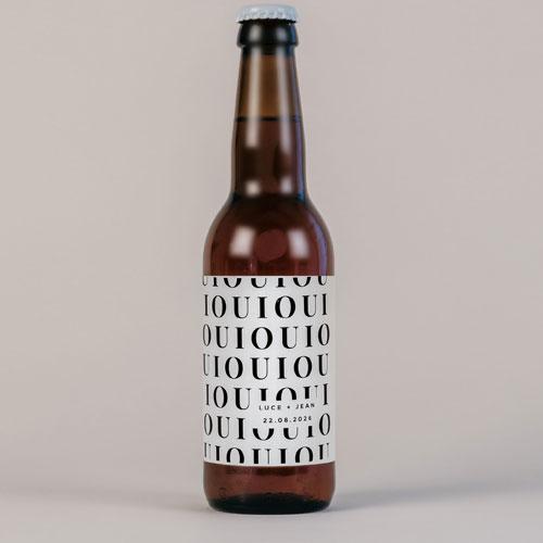 Bière de mariage lettering à personnaliser