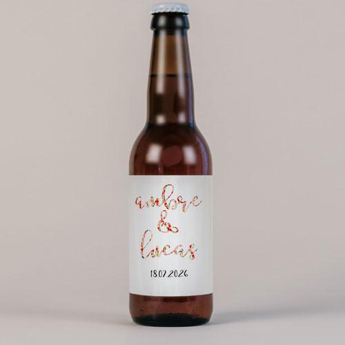 Bière de mariage liberty à personnaliser