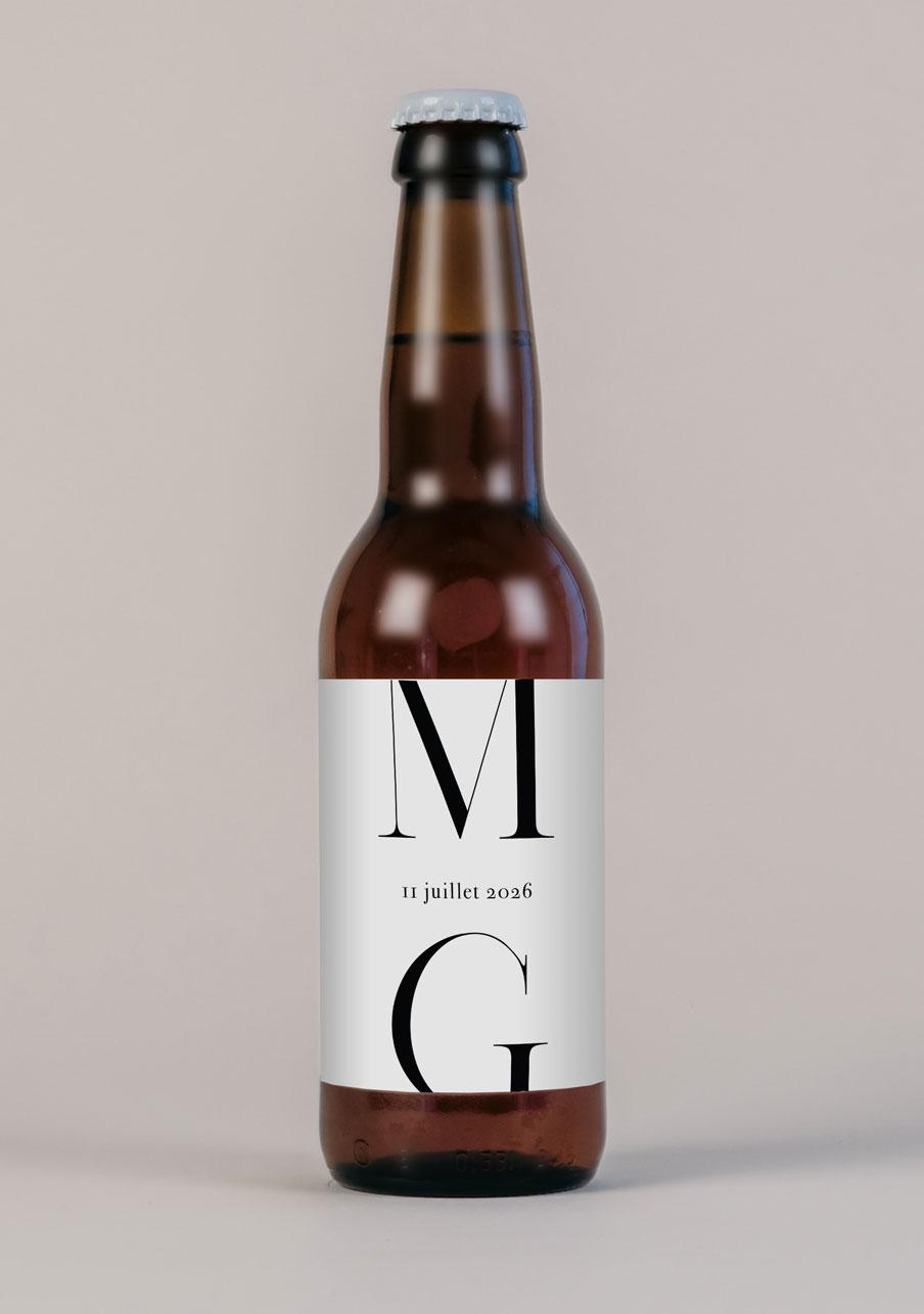 biere mariage personnalisé Milan