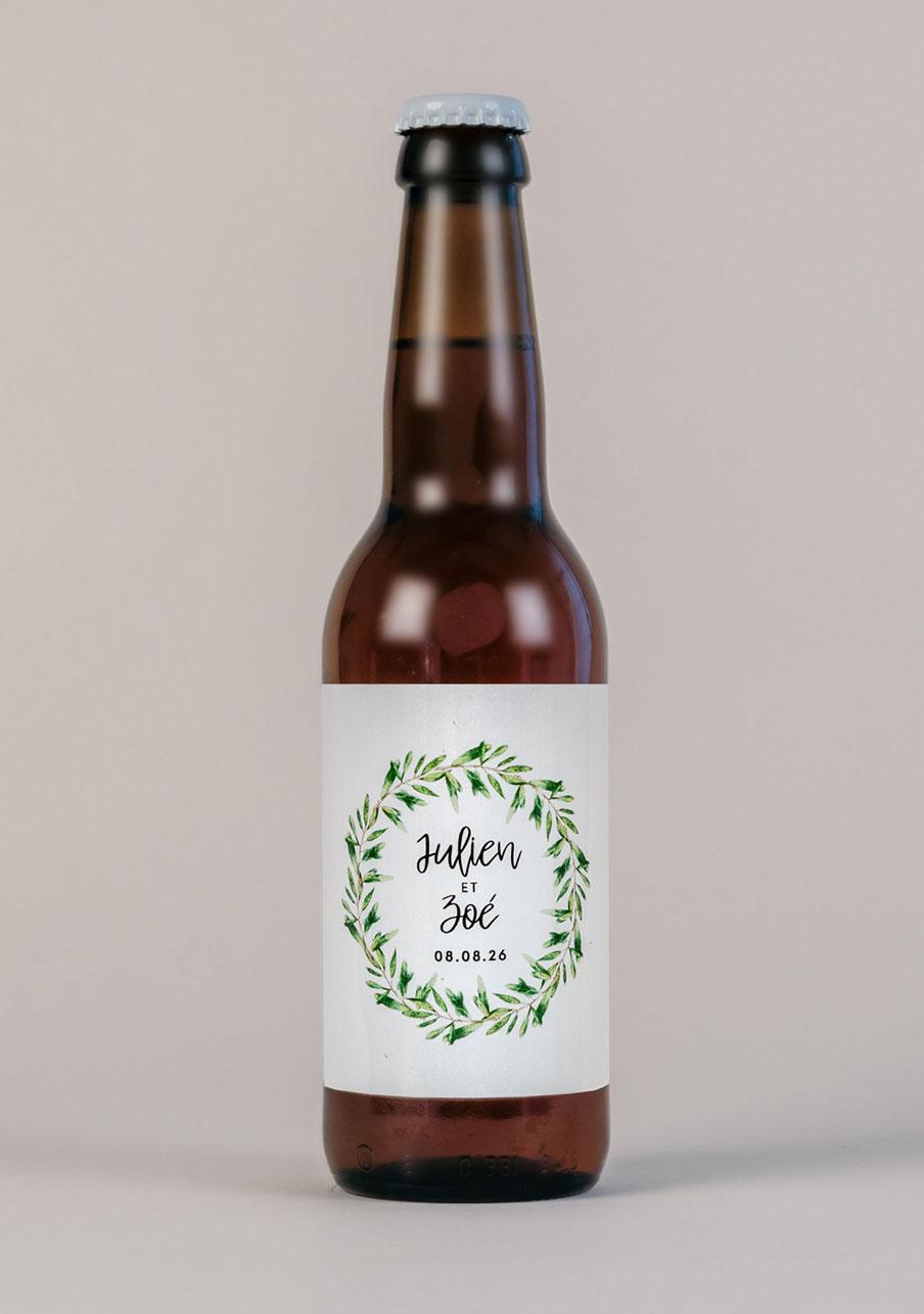 biere mariage personnalisé Natural