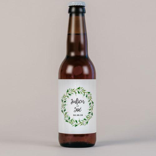 Bière de mariage natural à personnaliser