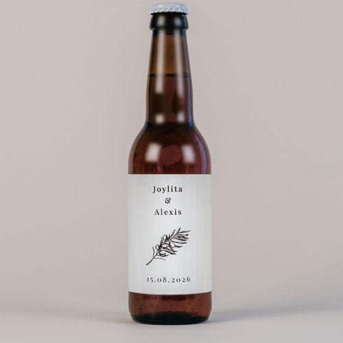 Bière de mariage olivier à personnaliser