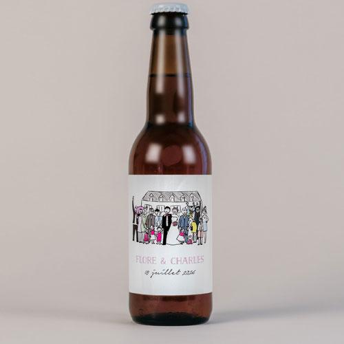 Bière de mariage photo-de-groupe à personnaliser