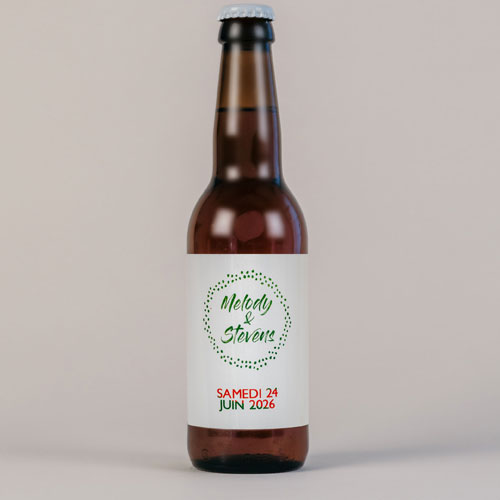 Bière de mariage pois à personnaliser