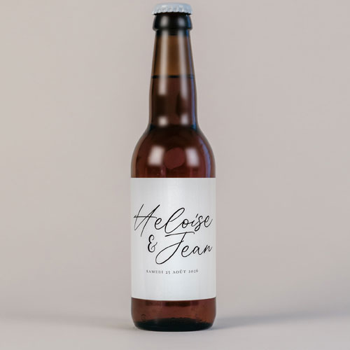 Bière de mariage prenoms à personnaliser