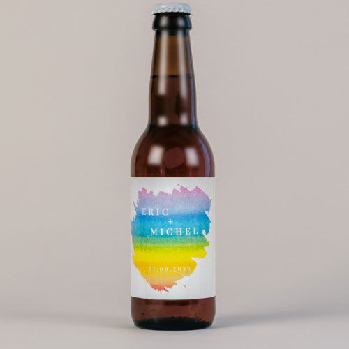 Bière de mariage rainbow à personnaliser