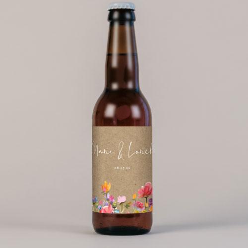 Bière de mariage stellaire à personnaliser