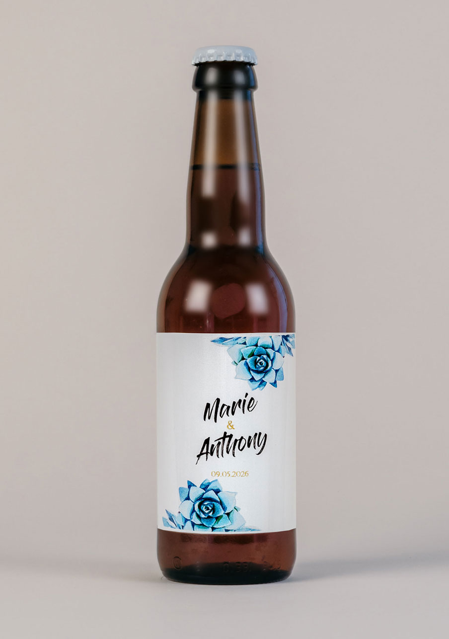 biere mariage personnalisé Succulentes