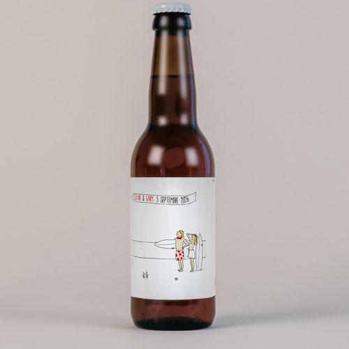 Bière de mariage surf à personnaliser