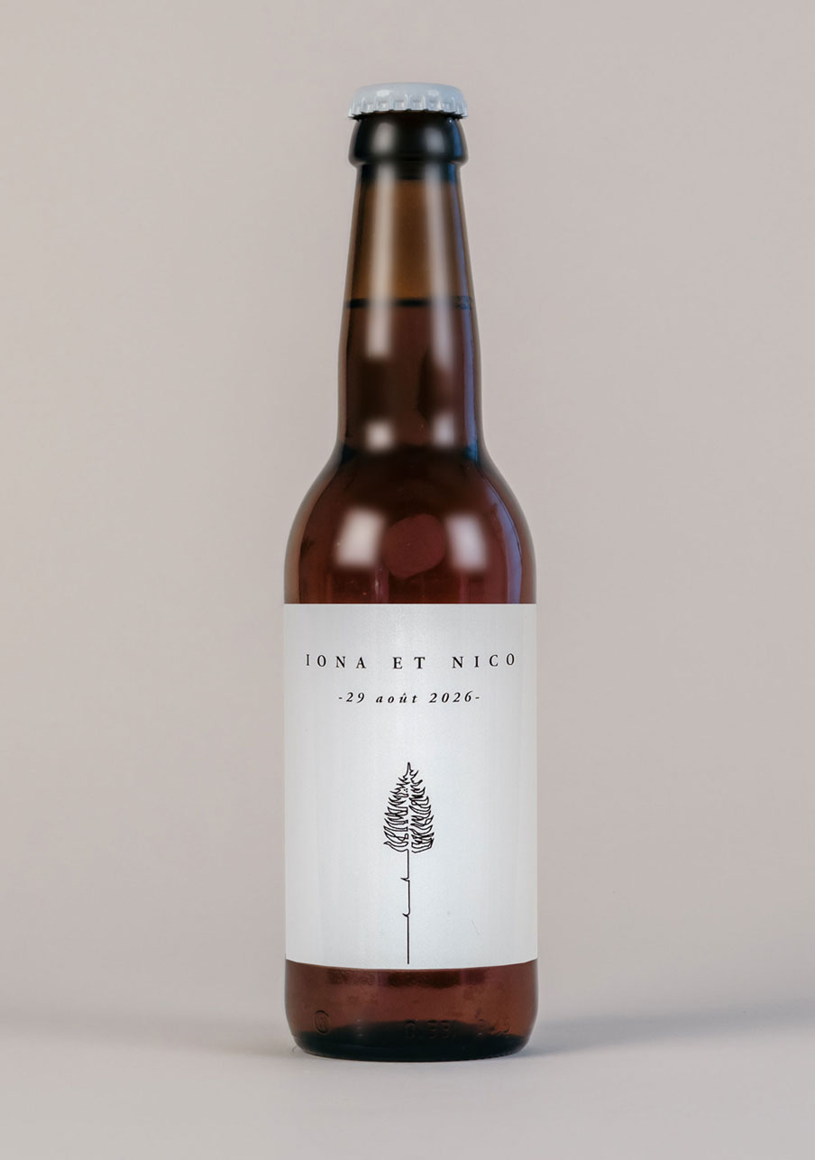 biere mariage personnalisé Tall tree