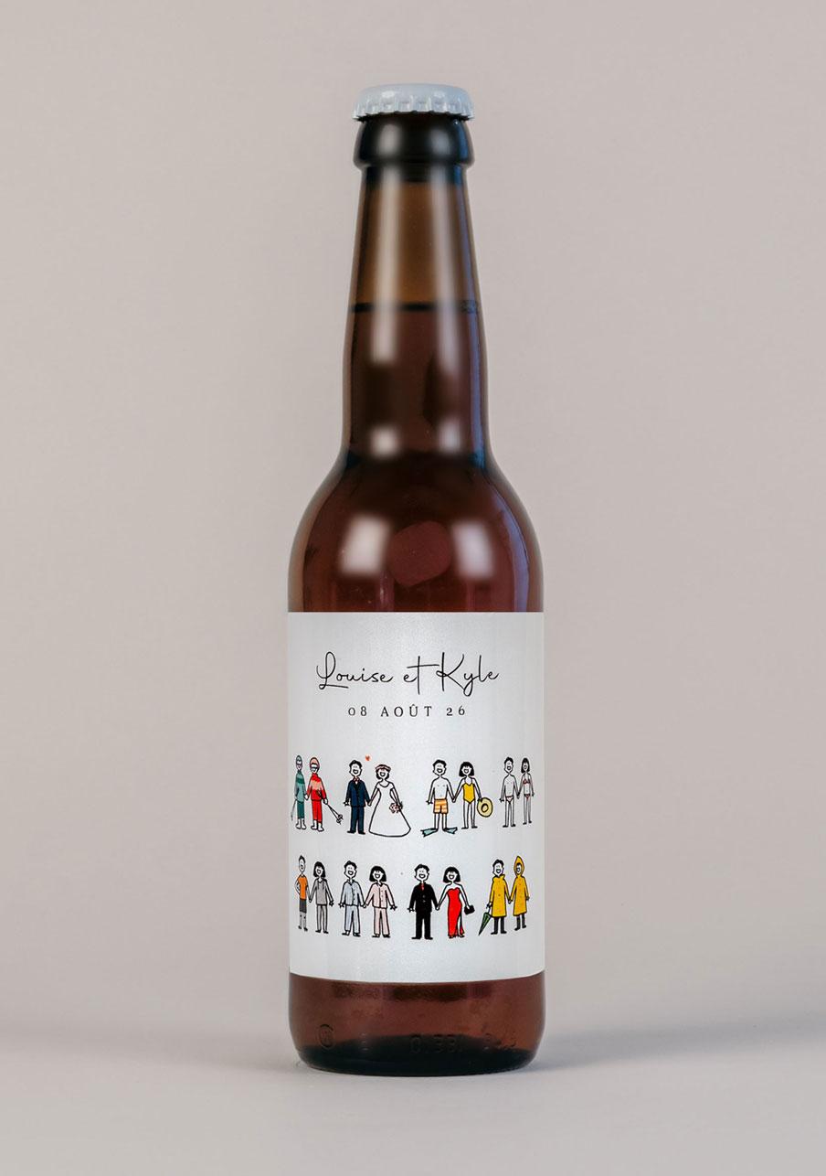 biere mariage personnalisé Tenues