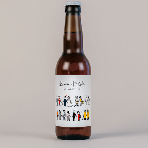 Bière de mariage tenues à personnaliser
