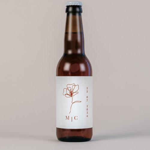 Bière de mariage terracotta à personnaliser