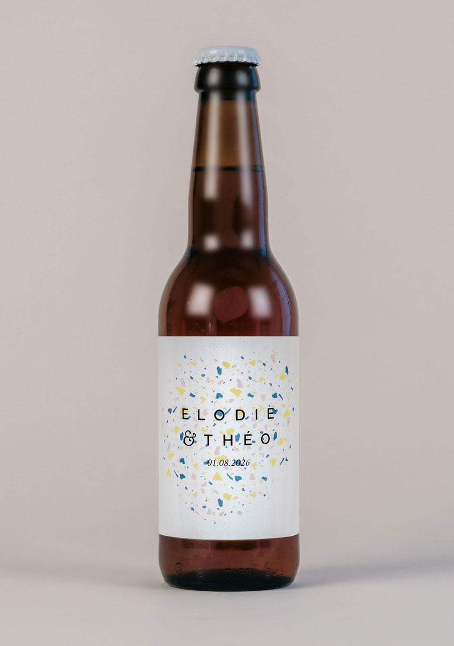 biere mariage personnalisé Terrazzo