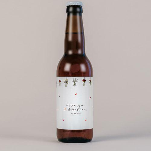 Bière de mariage vases-suspendus à personnaliser
