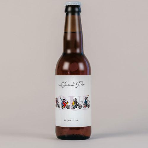 Bière de mariage velos à personnaliser