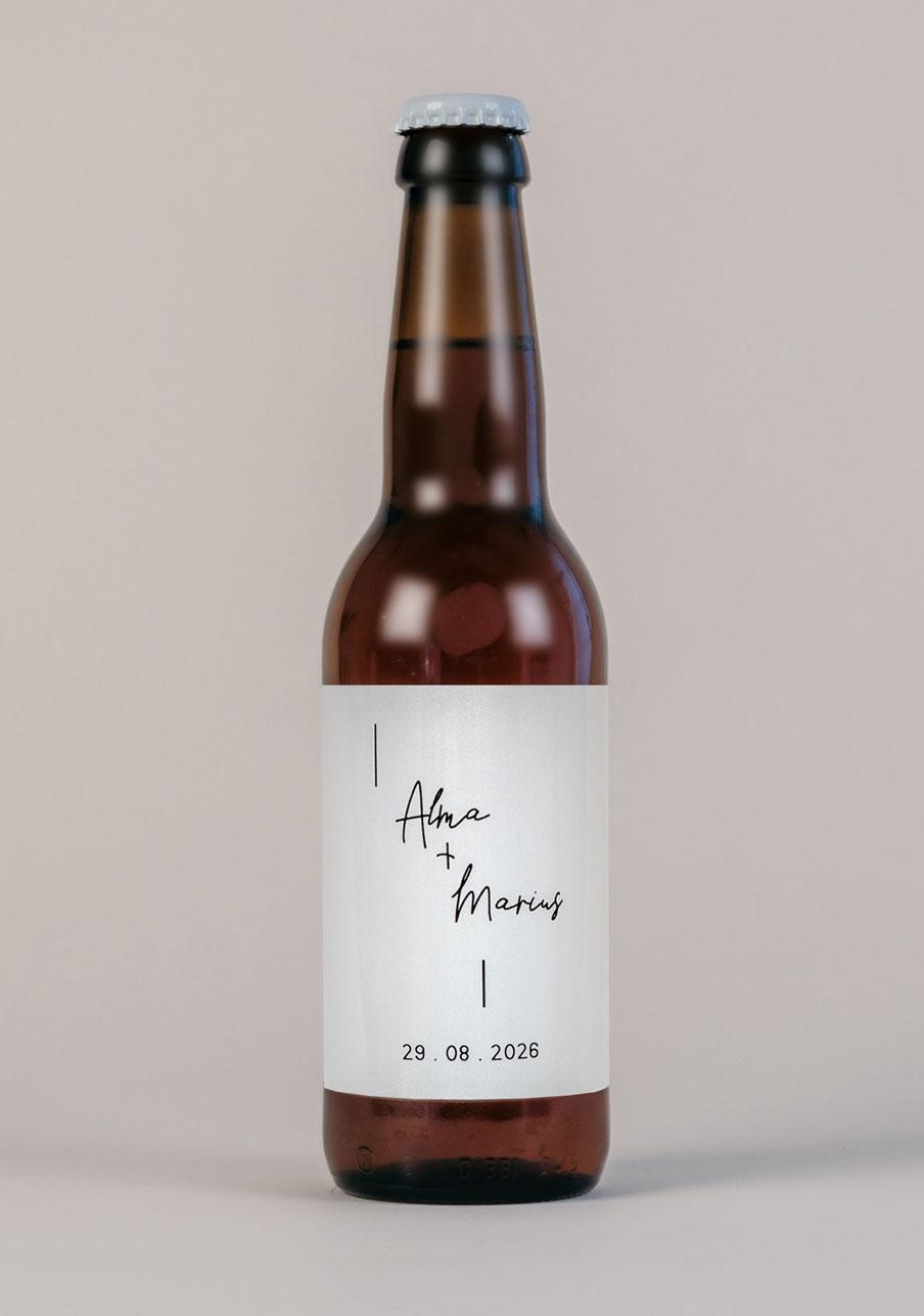 biere mariage personnalisé Warp