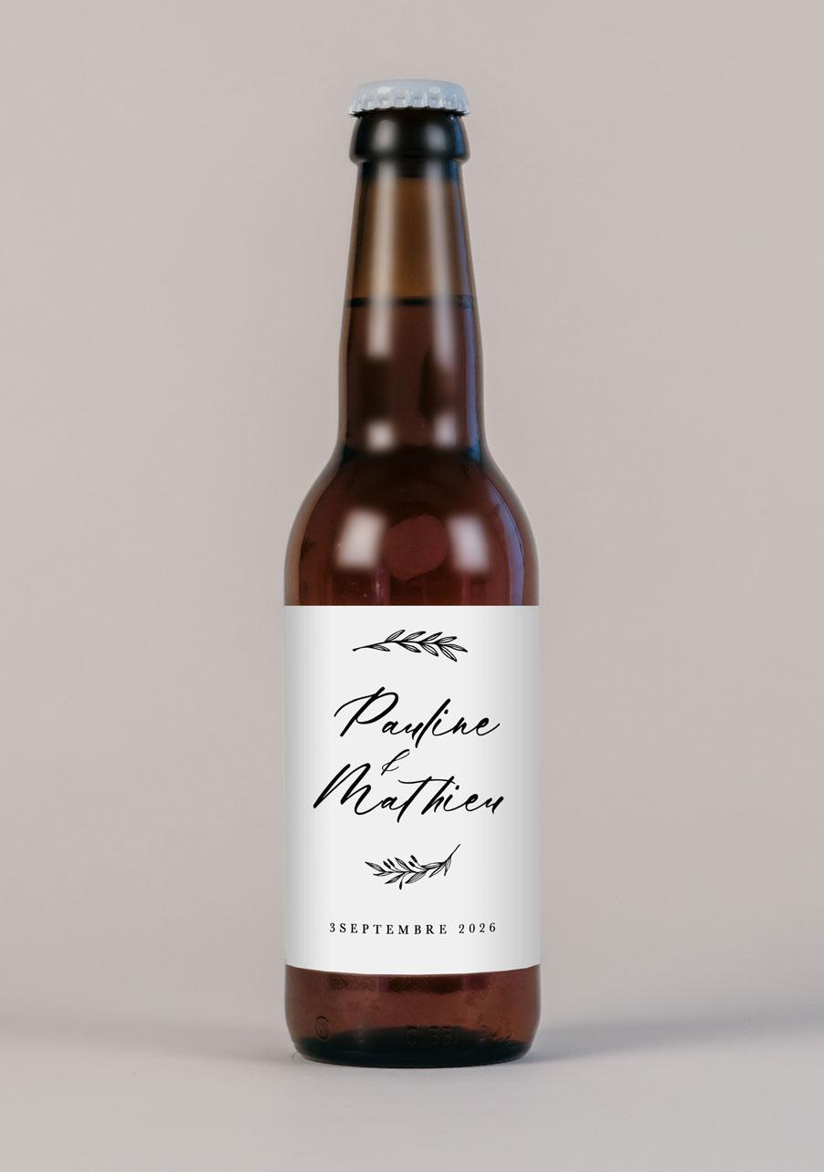 biere mariage personnalisé Wild