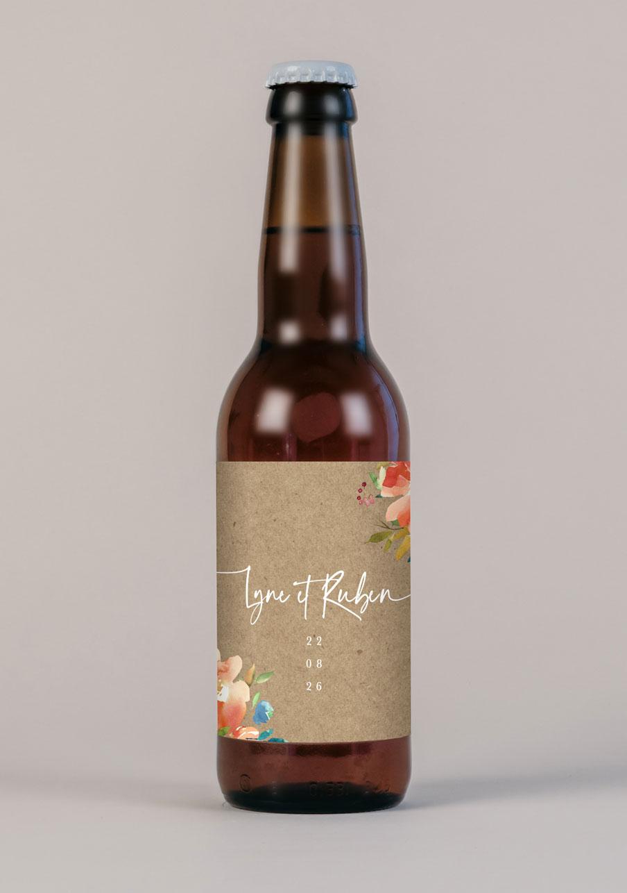 biere mariage personnalisé Zinnia