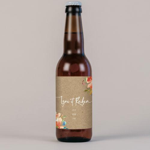 Bière de mariage zinnia à personnaliser