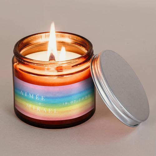 Bougie apothicaire de mariage rainbow à personnaliser