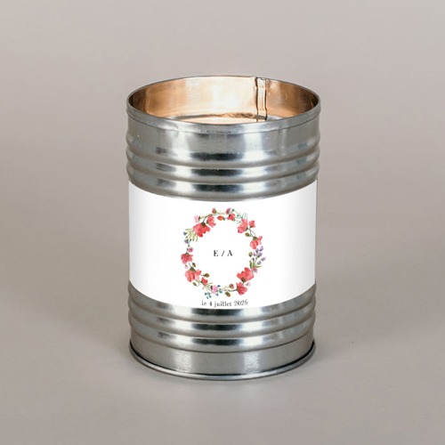 Bougie métal de mariage alexandria à personnaliser