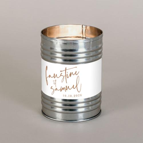 Bougie métal de mariage annecy à personnaliser