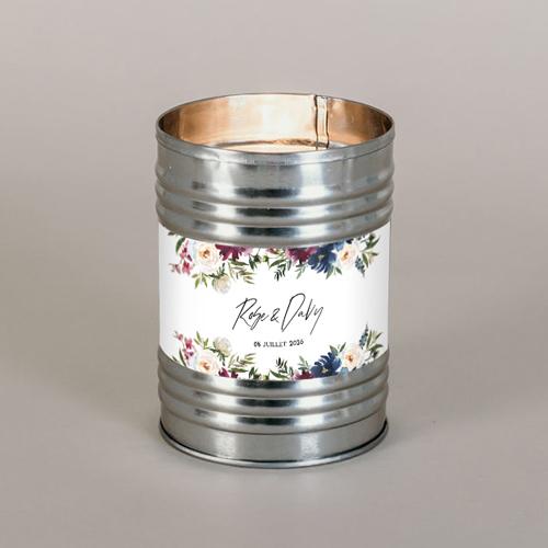 Bougie métal de mariage belladone à personnaliser